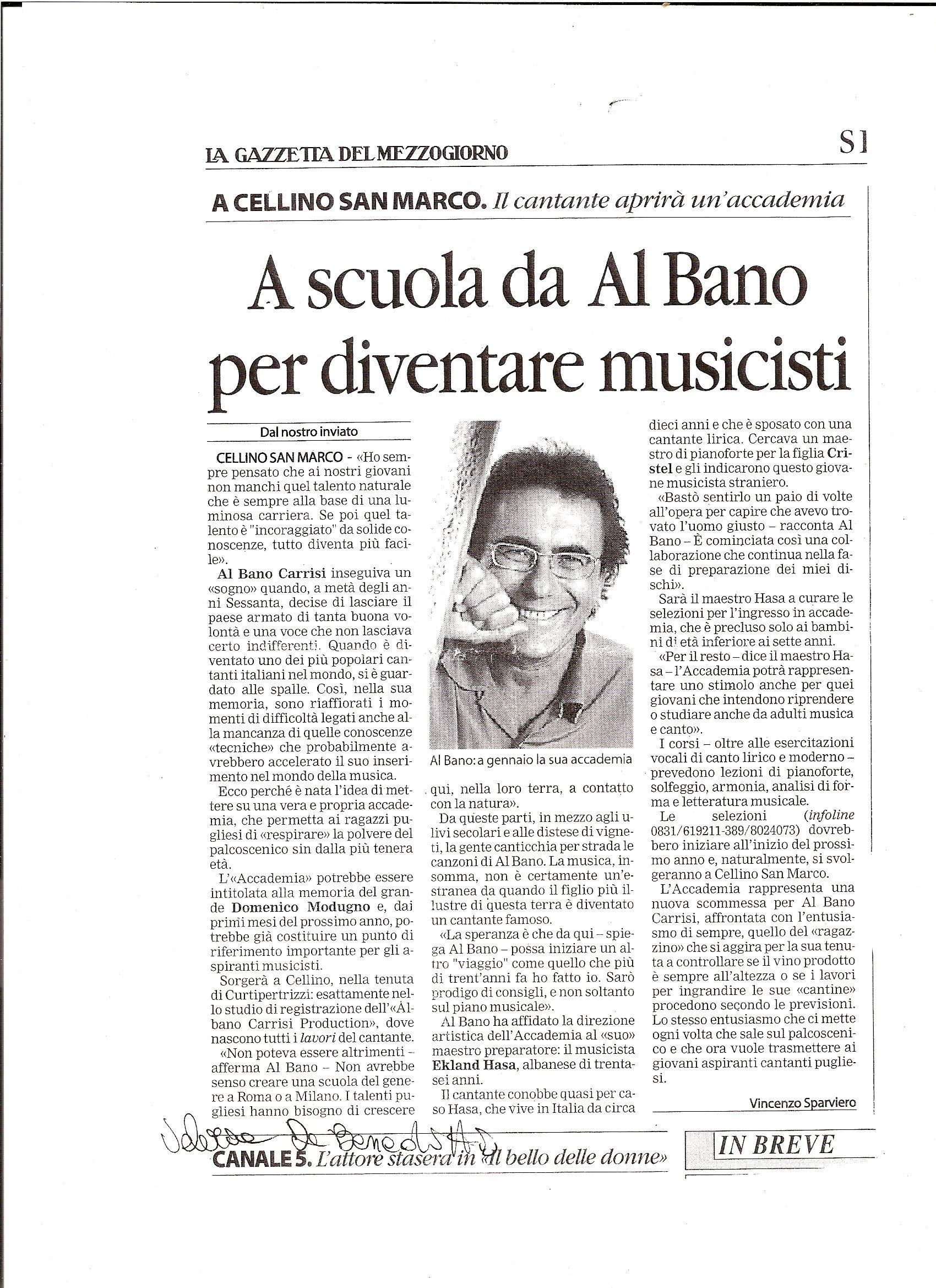scuola di musica da albano