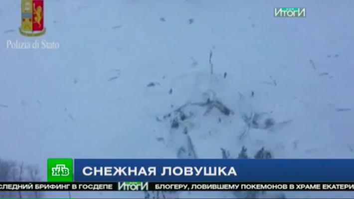 Репортаж для НТВ о сходе снежной лавины в Абруццо